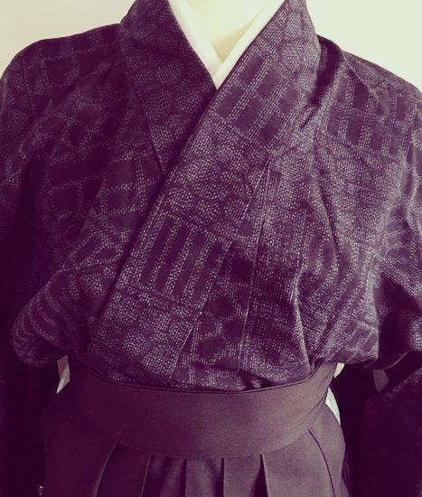 袴 着物 シルク 手縫