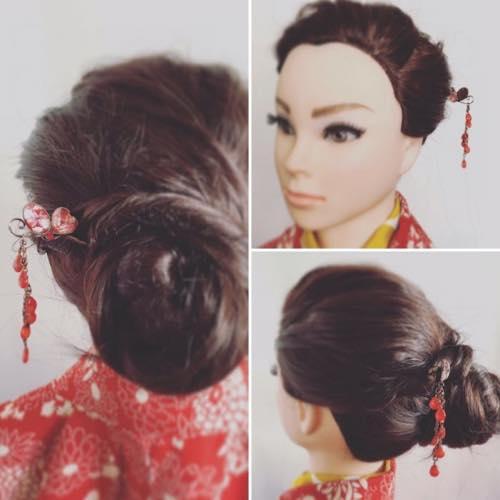 hairpin with kimono
